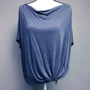 Anthro Promesa Grey Twist Front Knot Detail Top